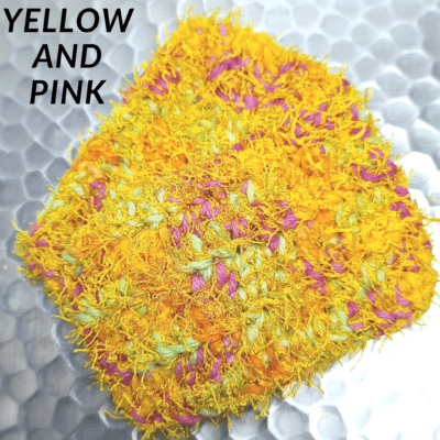 Yellow and Pink Scrubbie