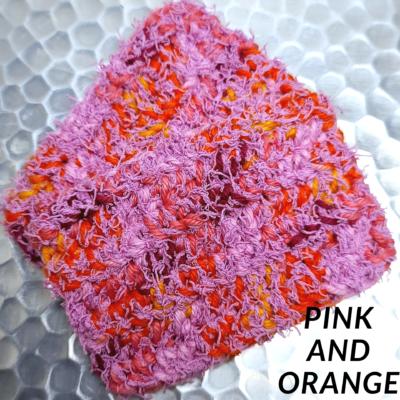 Pink and Orange Scrubbie