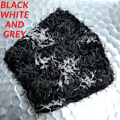 Black, White and Grey Scrubbie