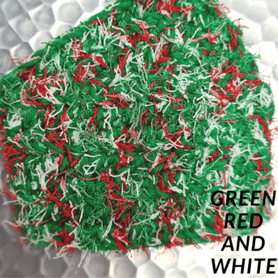 Green, Red and White Scrubbie