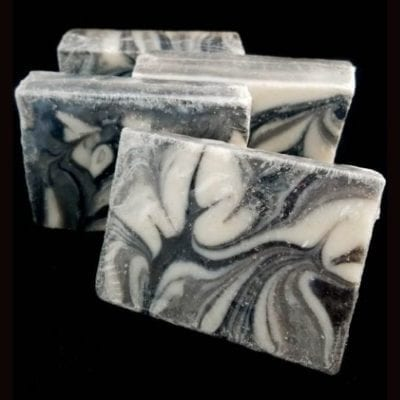 Black Linen and Amber Handcrafted Vegan Spa Bar Soap